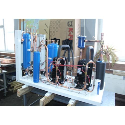 Среднетемпературный агрегат 3 компрессора UMCF-G-3x4NES-20Y
